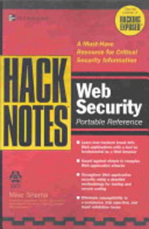 Product picture HackNotes Web Security Pocket Reference